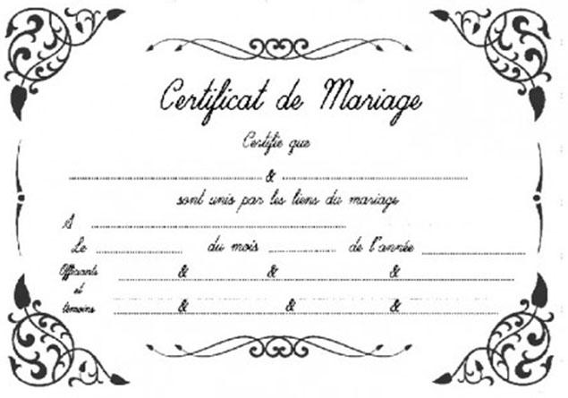 certificat de mariage senegal